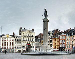 Column of the Goddess - Column of the Goddess on Grand Place
