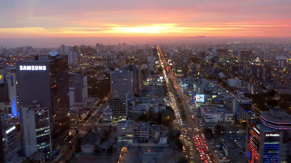 Lima, Peru Sunset Skyline & Cityscape