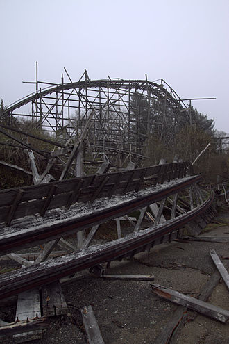 Lincoln Park (Dartmouth, Massachusetts) - A part of the Comet roller coaster.