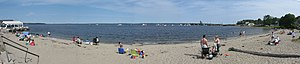 Lincolnville, Maine - Panoramic view of Lincolnville Beach, July 31, 2006