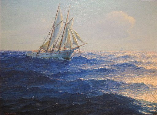 Lionel Walden - 'Racing Yachts', oil on canvas, c. 1900