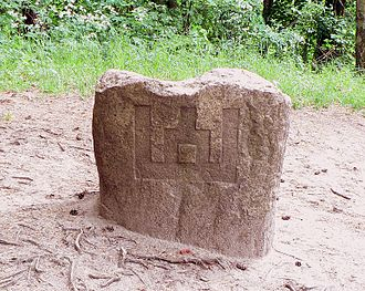 Gediminids - The Gediminid symbol in Rambynas Hill, Lithuania
