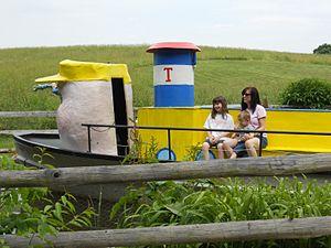 Clark's Elioak Farm - Visitors aboard Little Toot at Clark's Elioak Farm