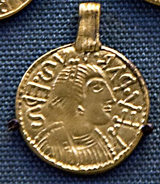 Liudhard medalet - Image: Liudhardmedaletrepli ca