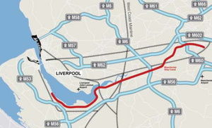 Liverpool City Region - Motorway network around the Liverpool City Region