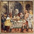 Livio agresti, storie eucaristiche e personaggi dell'antico testamento, cena della pasqua ebraica, dal duomo di forlì.jpg