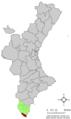 Localització de Pilar de la Foradada respecte al País Valencià.png