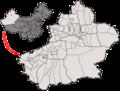 Location of Shihezi within Xinjiang (China).png