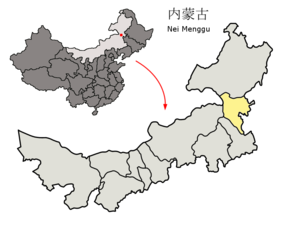 Location of Xing'an League within Inner Mongolia (China).png