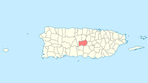 Location of Orocovis in Puerto Rico