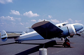 Lockheed Model 12 Electra Junior - This Lockheed 12A has flown in Australia since delivery in 1937 to the Broken Hill company