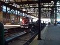 Locomotora al final de la estación Constitución.JPG