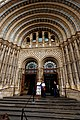 London - Cromwell Road - Natural History Museum 1881 by Alfred Waterhouse - View NW on the Entrance - Terracotta Tiles by Gibbs and Canning Limited.jpg