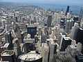 Looking North from Willis Tower Skydeck, Chicago, Illinois (9181574750).jpg