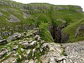 Looking down into Gordale Scar - geograph.org.uk - 1354078.jpg