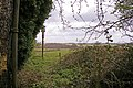 Looking through gap in hedge across fields, The Ridgeway, Enfield - geograph.org.uk - 748942.jpg