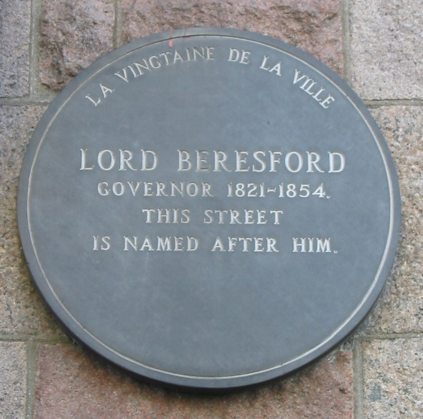 Lord Beresford plaque Jersey
