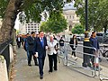 Lord George Robertson with Baroness Shirley Williams outside Westminster Abbey in London (48712553152).jpg