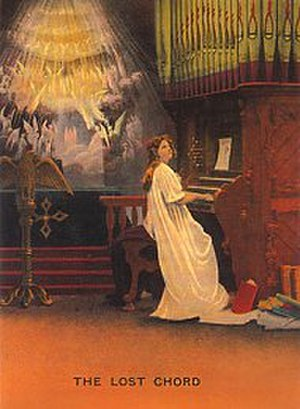 The Lost Chord - Victorian postcard