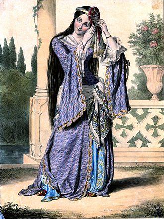 """François Pouqueville - """"Greek beauty"""" (The princess Helena Soutzos) by Louis Dupré, 1820"""