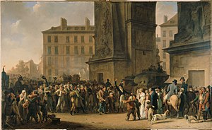 Levée en masse - Painting depicting the Departure of the Conscripts of 1807 by Louis-Léopold Boilly