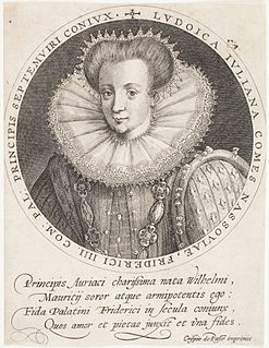 Countess Louise Juliana of Nassau Electress Palatine
