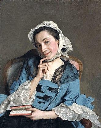 Portrait of Baronne de Rothschild - Jean-Étienne Liotard, Portrait of Louise d'Épinay, pastel, 1759