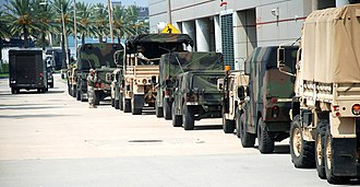 Louisiana Army National Guard - Louisiana National Guard Vehicles Preparing for Gustav
