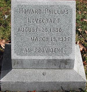 Swan Point Cemetery - Gravestone of H. P. Lovecraft