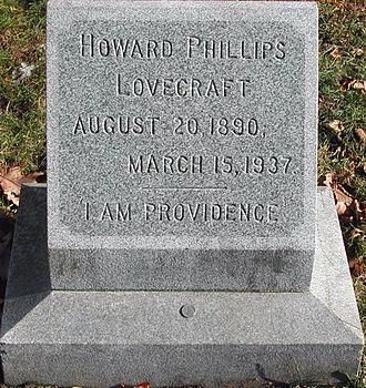 Swan Point Cemetery - Gravestone of H. P. Lovecraft