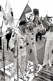 Lovell and Aldrin on Deck - GPN-2000-001356