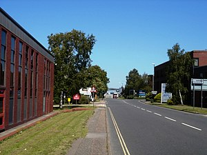 Lowfield Heath - Looking north towards the runway, immediately behind the lorry (centre). This road was part of the main route from London to Brighton until the 1950s