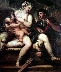 Vénus, Cupidon et Mars