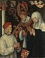 Lucas Cranach d. Ä. - Gabriel von Eyb, Bischof von Eichstätt, mit den hll. Willibald und Walburga - L 1550 - Bavarian State Painting Collections.jpg