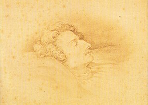 Ludwig Schuncke - The only portrait of Ludwig Schuncke, done on his deathbed