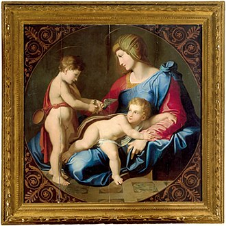 Luigi Agricola - Madonna and child with Young St John the Baptist
