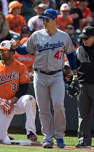Luis Cruz - Cruz with the Los Angeles Dodgers