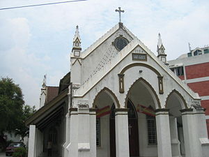Brickfields - The Lutheran Zion Church in Brickfields, Kuala Lumpur, established in 1924.