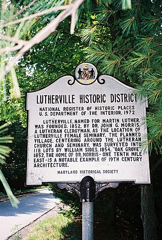 Lutherville, Maryland - Lutherville historic marker