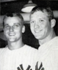 Roger Maris (left) and Mickey Mantle (right) in 1961