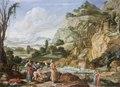 Målning. Faraos dotter och Mosesbarnet. Bartholomeus Breenbergh - Hallwylska museet - 86725.tif