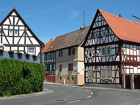 Half-timbered houses in Mörfelden