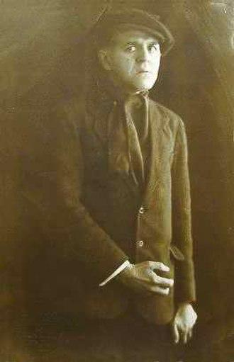 The Twelve (poem) - Mikhail Savoyarov playing the role of a criminal, a postcard, (1915).