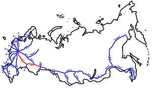 M5 highway (Russia) - Image: M5 karte gross 1