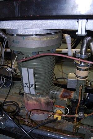 Diffusion pump - Six inch oil diffusion pump.