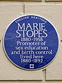 MARIE STOPES 1880-1958 Promoter of sex education and birth control lived here 1880-1892.jpg