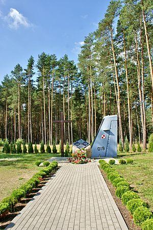 2008 Polish Air Force C-295 Mirosławiec crash - Memorial at crash site