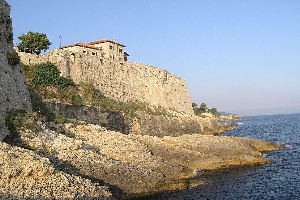 A coastal defensive wall of Ulcinj Castle, Montenegro