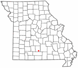 Location of Norwood, Missouri