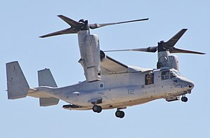 Bell Boeing V-22 Osprey - An MV-22 used during a MAGTF demonstration during the Miramar Air Show 2014
